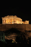 parthenon för natt en Royaltyfria Bilder