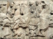 Parthenon Frieze, Elgin Marbles Stock Image