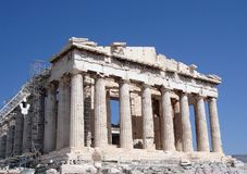 Parthenon, front Facade Stock Photos