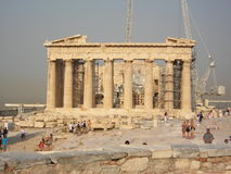 Parthenon. Front side of Parthenon in august 2007 Royalty Free Stock Image