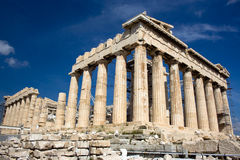 Parthenon, Greece. A view of the Parthenon in the Athens Royalty Free Stock Images