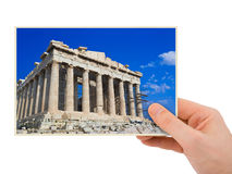 Parthenon (Greece) photography in hand Stock Photo