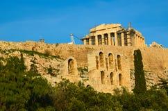 Parthenon herodeion athens greece stock photo