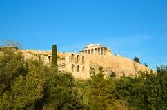 Parthenon herodeion athens greece royalty free stock photography