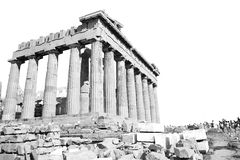 Parthenon and  historical   athens in greece the old architectur Stock Photo