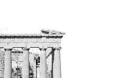 Parthenon and  historical   athens in greece the old architectur Royalty Free Stock Image