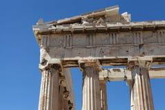 Parthenon i niebieskie niebo obrazy royalty free