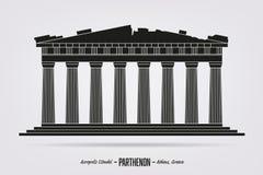 Parthenon, la ciudadela de la acrópolis en Atenas, Grecia Libre Illustration