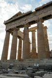 Parthenon lateral wall of Cella Stock Images