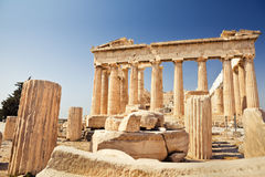 Parthenon na akropolu w Ateny fotografia stock