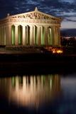 Parthenon nachts stockfotografie