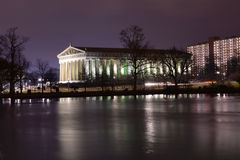 Parthenon in Nashville Tennessee. Replica of Parthenon in Centennial Park in Nashville, Tennessee at nigh Stock Photography