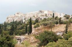 Parthenon no Acropolis de Atenas, Greece Foto de Stock