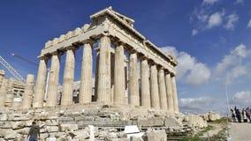 Parthenon op de Akropolis, Athene Stock Afbeelding