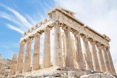 Parthenon op de Akropolis royalty-vrije stock foto's