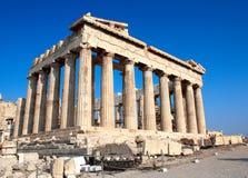 Parthenon op de Akropolis, Athene, Griekenland Stock Afbeelding