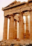 Parthenon op de Akropolis in Athene, Tempel van Hephaestus, Griekenland, zonsondergang stock afbeeldingen