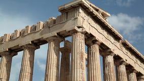 Parthenon - oude tempel in Athene, Griekenland stock videobeelden