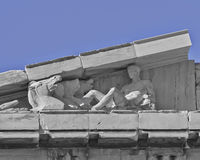 Parthenon pediment, horse heads and Dionysus Stock Images