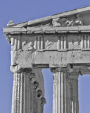 Parthenon pediment, horse heads and Dionysus Royalty Free Stock Images