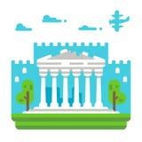 Parthenon plat de conception Photos libres de droits