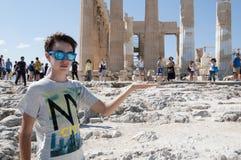 Parthenon przy akropolem - Ateny, Grecja obrazy royalty free