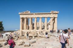 Parthenon przy akropolem - Ateny, Grecja obraz royalty free