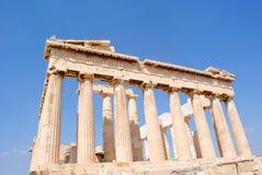Parthenon-rückseitige Ansicht Stockfotos
