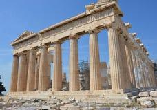 Parthenon rechte hoek Royalty-vrije Stock Afbeelding