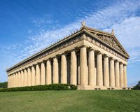 Parthenon Replica. At Centennial Park in Nashville, Tennessee, USA stock image