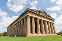 Parthenon Replica Nashville. Life size replica of the Parthenon in Nashville, Tennessee stock images
