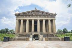 Parthenon-Replik-Eingang, Nashville stockbilder