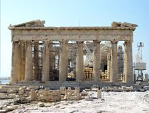 Parthenon restoration Royalty Free Stock Photo