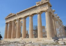 Parthenon right angle Royalty Free Stock Image