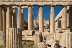 Parthenon sous la restitution Image libre de droits