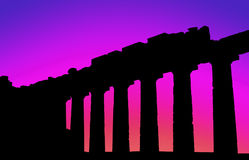 Parthenon sunset-1 Stock Photography