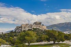 Parthenon temple in Acropolis royalty free stock photo