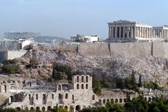 Parthenon temple on Acropolis Royalty Free Stock Photos