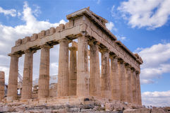 Parthenon temple, Acropolis, Athens Royalty Free Stock Photos