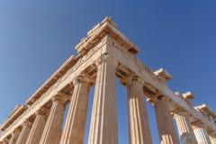Parthenon temple on Acropolis of Athens Royalty Free Stock Photos