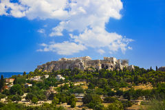 Parthenon temple in Acropolis at Athens, Greece Stock Photos