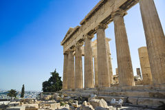 Parthenon temple in Acropolis at Athens, Greece Stock Photo