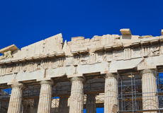 Parthenon temple in Acropolis at Athens, Greece Stock Image
