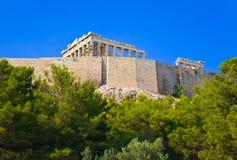 Parthenon temple in Acropolis at Athens, Greece Stock Photography