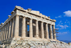 Parthenon temple in Acropolis at Athens, Greece Royalty Free Stock Images