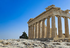 Parthenon temple in Acropolis at Athens, Greece Royalty Free Stock Photo