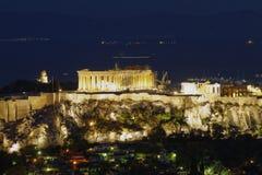 Parthenon temple, Acropolis of Athens Royalty Free Stock Photos
