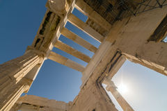 Parthenon temple in Acropolis in Athens, Greece Royalty Free Stock Images