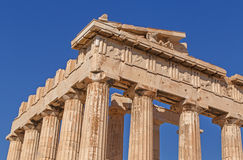 Parthenon temple on Acropolis of Athens Royalty Free Stock Images