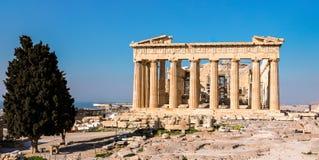 Parthenon temple, Acropolis in Athens, Greece. Royalty Free Stock Photo